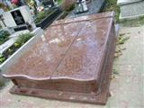 Chinese red granite monument
