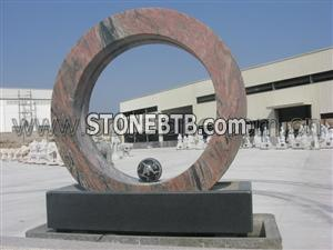 granite ball fountain