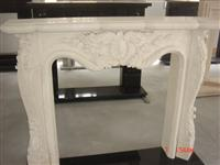 White Marble Fireplace 15