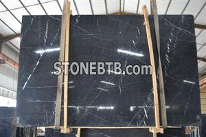 New Marquina Black Marble Slabs