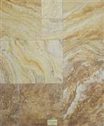 Gold Tumbled French Pattern Travertine