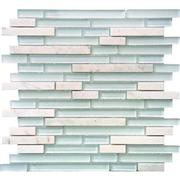 Crystal Glass & Stone Mosaic Tile