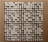 White Marble Mix Glass Mosaic