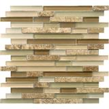 Light Emperador Marble Mix Glass Mosaic