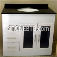 China Black Granite Bath Top Set