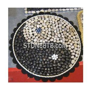 Mixed Colour Pebble Stone Medallion