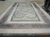 Marble mosaic table tops