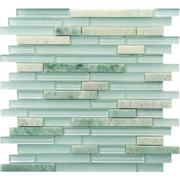 Green Color Glass Mix Stone Mosaic
