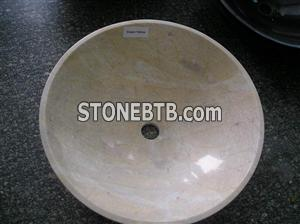 Cream Yellow marble sink