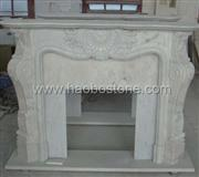 Marble, natural stone fireplace mantel 1-0