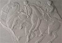 Stone Embossment Etching -Caballos Olympus