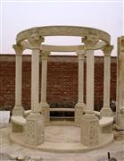 Gazebo with Carved Sandstone