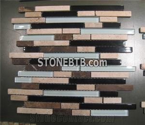 marble glass mosaic tiles