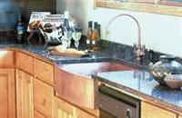 Sink with Bowed Front Skirt