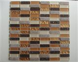 Glass Mix Stone Mosaic Pattern