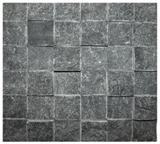Black quartzite mosaic