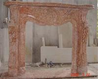 Agate Red Marble Fireplace Mantel