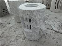 Granite Carved Solar Lamp