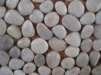 White Pebble Stone on Net
