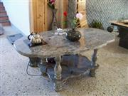 Stone tables and benchs