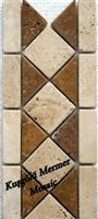 Travertine Mosaic Border K11