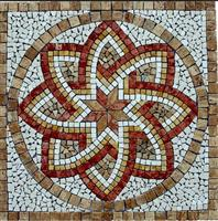 Travertine Mix Mosaic Medallion