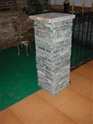 slate concrete gate post