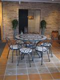Anticato Travertine Oscuro 30x30, Mosaic Tabletop