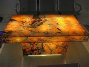 backlit afterglow onyx glass table