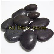 black pebble stone beach pebble