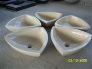 Triangle Stone Wash Basin