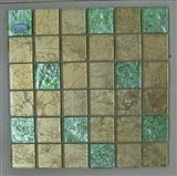 green blend gold glass mosaic