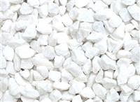 Crushed snow white marble pebble