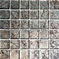 Glass mosaic tiles with foil