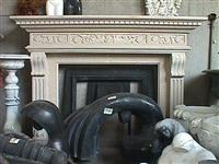 Yellow Granite Fireplace