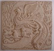 Beige Sandstone Bird Carving