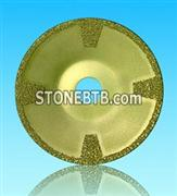 Vacuum brazed diamond cup  shape blade
