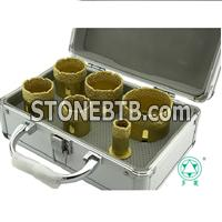 Vacuum brazed diamond core bit kits