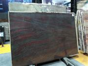 Steel red marble slab