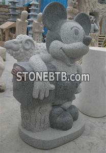 G654 Granite stone carving mailbox postbox