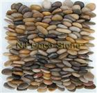 mixed pebble mosaic tile stacked