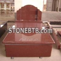 European Style Red Tombstone