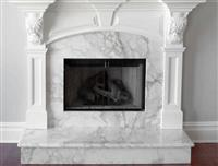 Arabescato Marble Fireplace