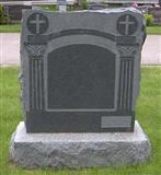 Black Granite Monument, Tombstone