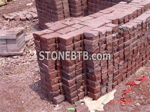 Red porphyry cubicstone