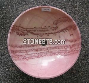 Cream Red marble sink