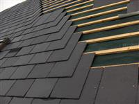 Roofing tile, black roofing slate