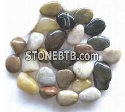 Mixed beach pebble for decoration