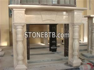 Indoor Stone Fireplace Decoration