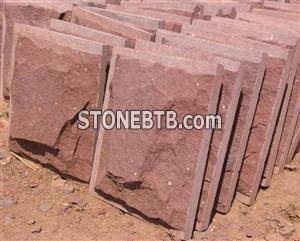 Red Sandstone Mushroom Stone Wall Cladding
